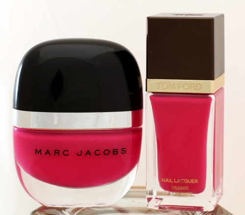 Tom Ford Indian Pink and Marc Jacobs Shocking bottle