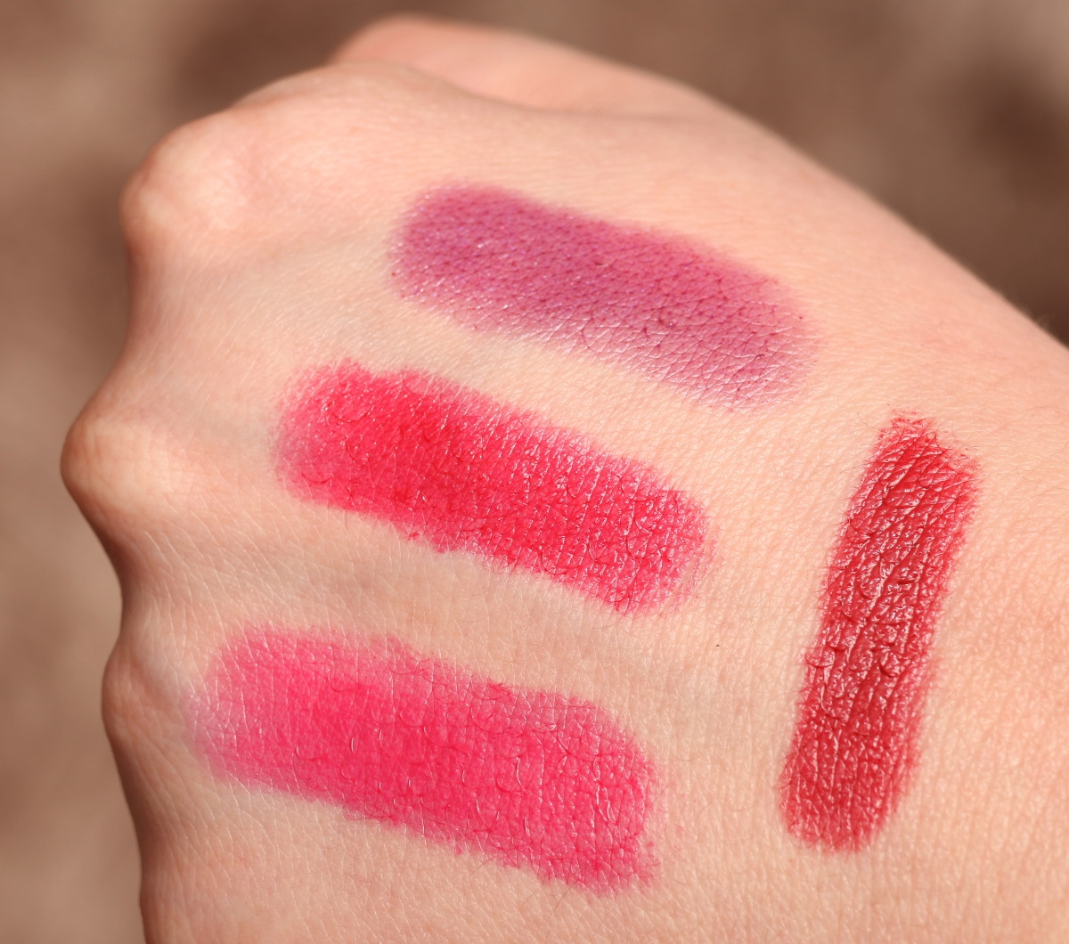 Marc Jacobs Lovemarc lipstick swatches